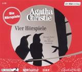 Bild: Cover Agatha Christie, Vier Hörspiele - Hercule Poirot und Miss Marple ermitteln