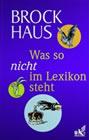 Bild: Buchcover Joachim Heimannsberg, Brockhaus. Was so nicht im Lexikon steht